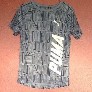 Boys Blue and White Puma Short Sleeve T-Shirt S 5